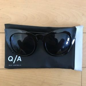 Quay Black Cat Eye Sunglasses